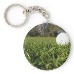 Golf Ball on Golf Course Keychain
