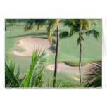 Golf Course in Tropics Greeting Card