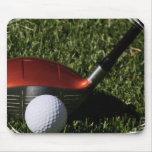 Golf Iron and Ball Mouse Pad