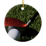 Golf Iron and Ball Ornament