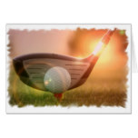 Golf Putter Greeting Card