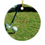 Teeing Off Ornament